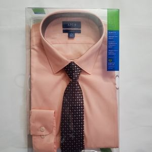🎁NWT Men's Dress Shirt & Tie Set